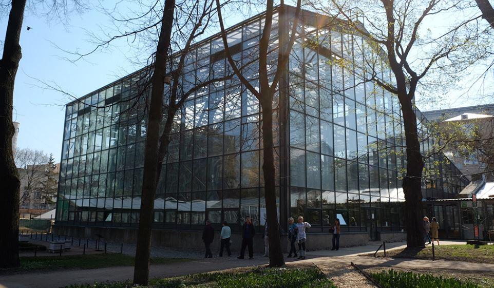 Оранжерея в ботаническом саду МГУ